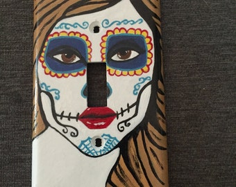 Day of the Dead Girl Light Switch Cover