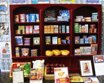VINTAGE STYLE  GROCERY shop display cupboard