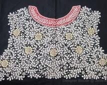 Handmade Gota Patti fine work blouse on dupin - readymade gota patti blouse, gota patti work, Sari Blouse - Saree Top - Sari Top - For Women