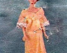 Vintage Organza Negligee Sewing Pattern Womans Day 1966