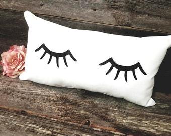 Eyelashes Pillow - Eyelashes - Eyelash Decor - Eyelashes - Lashes - Lash Lover Gift - Gift for her - Teen Girl Gift - Cute Pillows
