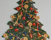 Vintage Paper Standing Christmas Tree Decoration