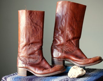 1970s Men's leather FRYE Boots **10.5**