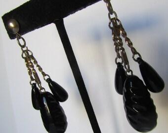 Vintage earrings- Dangle drop earrings- 90s Jewelry