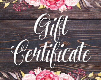 Gift Certificate for CupcakePups | Dog Collars | Custom | Leash Set | Gift