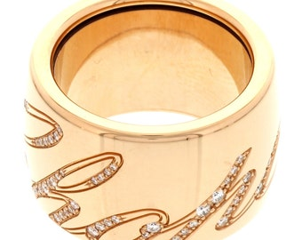 Ladies Chopard Chopardissimo 18K Rose Gold and Diamond Ring