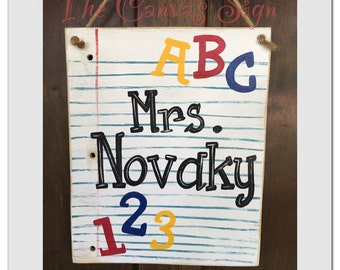 Teacher Name Sign