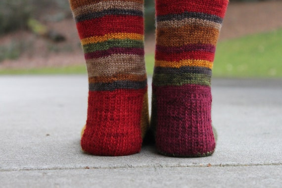 Knitting Pattern For Tardis Socks : Fourth Doctor Socks: A Knitting Pattern from InfinityFiberStudios on Etsy Studio