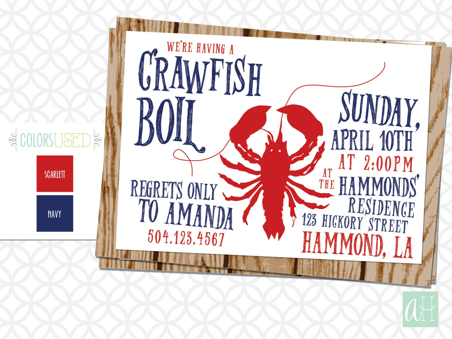 It is a photo of Priceless Crawfish Boil Invitations Free Printable