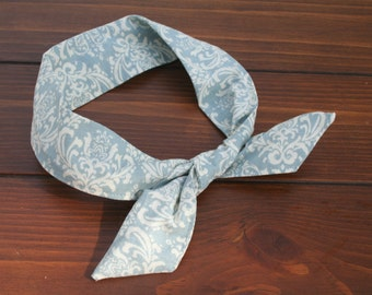 Pale Aqua Blue Wire Headband