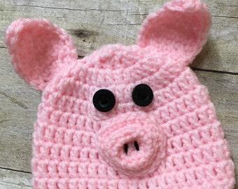 Newborn Pig Hat, Baby Pig Hat, Pig Hat, Pig Photo Prop, Baby Pig, Pink Pig Hat, Pink Pig Photo Prop, Girl Pig Hat, Newborn Photo Prop