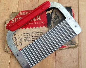 Vintage Huot Serrater and Meat Tenderizer ~ 1950's Decor Kitchen Decor ~ Vintage Kitchen ~ Huot Kitchen Utensils ~ French fries