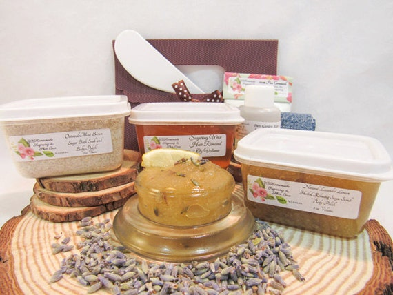 Natural Lavender Lemon Scrub Sugaring Wax Deluxe Starter Kit