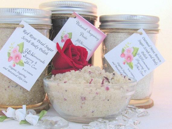Sugaring Paste & Natural Red Rose Sugar Scrub Deluxe Bundle