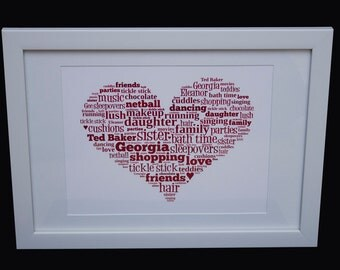 White Frame For Personalised Word Art