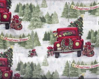 Christmas Pickup Trees Curtain Valance