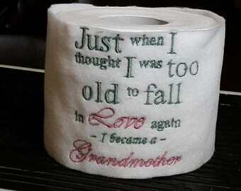 Grandmother Embroidered Toilet Tissue Toilet Paper Cover