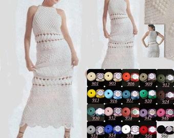 Belle robe blanche pour l'été / crochet / sur commande