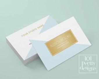 Minimalistic business card template gold printable business card design geomeric business cards elegant business card gold foil makeup
