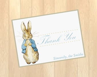Vintage Peter Rabbit Thank you card