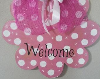 Door Hanger/Flower/Pink2