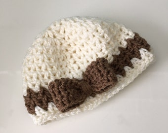 Crochet Baby Beanie with Bow