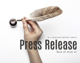 PRESS RELEASE WRITER: Press Release Writing Service, Media Release Writer, Press Releases