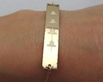 Personalized Heartbeat Bracelet - Sound Wave Gold Filled Bracelet - Unique  gift - Soundwave Custom Bar Bracelet - Sonogram Jewelry -