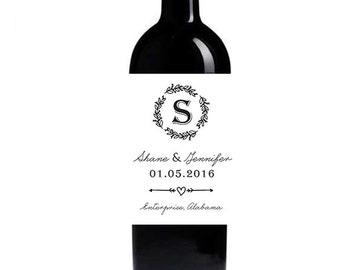 Engagement Wine Labels - Custom Wedding Wine Labels - Set of 8 Personalized Labels - Wedding Labels - Engagement Labels