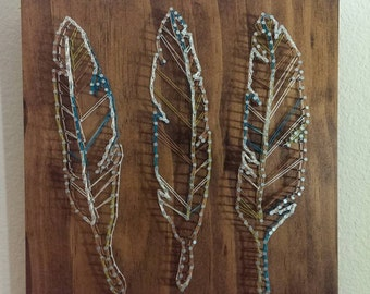 Feather Nail and String Art