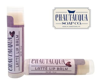 Organic Latte Lip Balm - Made in USA - Espresso Flavored - Chautauqua Soap Co