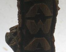 Vintage Coco Joe's Happa Wood HAWAII Letter Opener - Hawaiian Collectable - Tiki Bar