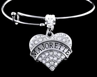 Majorette bracelet Crystal heart Majorette Charm Bracelet Majorette Jewelry