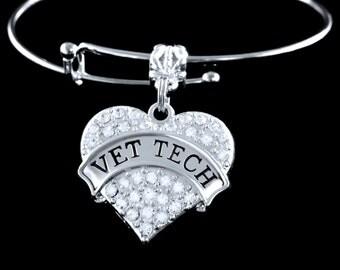 Vet Tech bracelet Vet tech gift Vet tech jewelry Vet tech charm Vet tech
