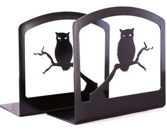 OWL BOOK ENDS.