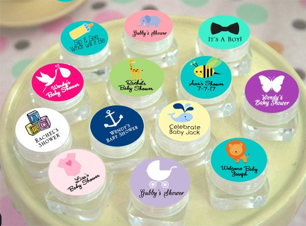 set baby shower lip balm favor personalized baby shower