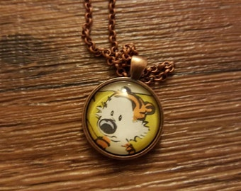 Hobbes from Calvin and Hobbes pendant necklace