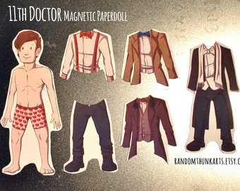 11th Doctor (Doctor Who) Magnetic Paper Doll