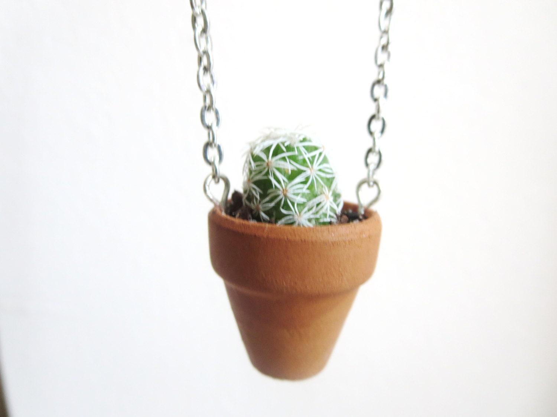 miniature terrarium live plant necklace by dandelionandwish