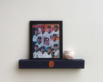 Detroit Tigers Ledge/Shelf, Detroit Wall Art, MLB, Sports Gift, Baseball Display Shelf