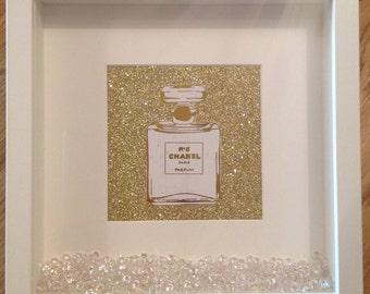 Chanel No.5 Perfume Glitter Frame