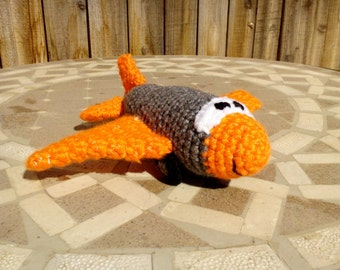Crocheted Jet Airplane