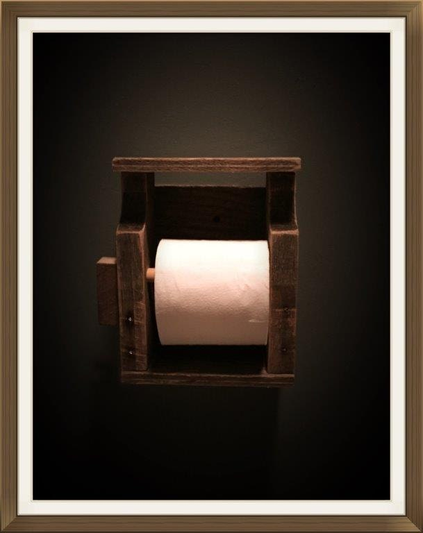 Rustic Toilet Paper Holder Single Roll Wall Mounted Toilet