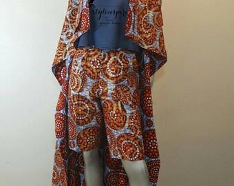 New Collection | Ankara Shorts Set | Ankara Print SHADíA JACKET DRESS with Shorts | Twin Set