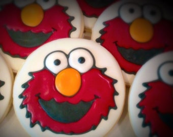 Elmo Decorated Sugar Cookies