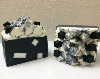 BLACK FOREST handmade soap/Activated bamboo charcoal soap/Vegan/Absorbs impurities/Anti-acne