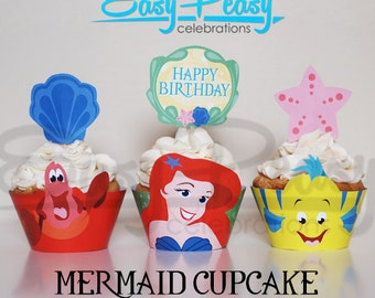 Mermaid Cupcake Set