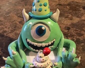 Mike Wazowski Keepsake Cake Topper