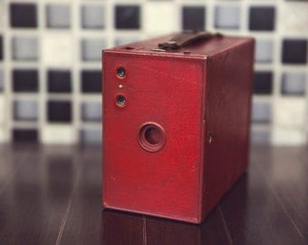 Vintage Red Box Camera