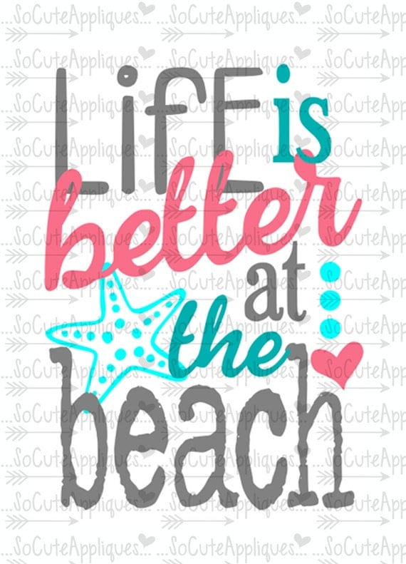 Life Is Better At The Beach Svg Nautical Svg